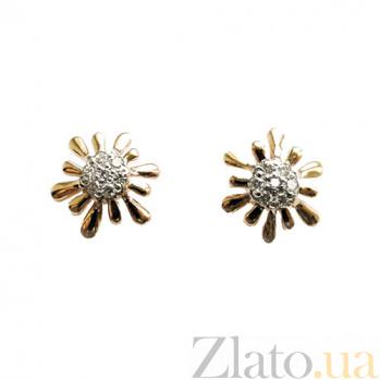 Золотые серьги с бриллиантами Анелия ZMX--ED-6597_K