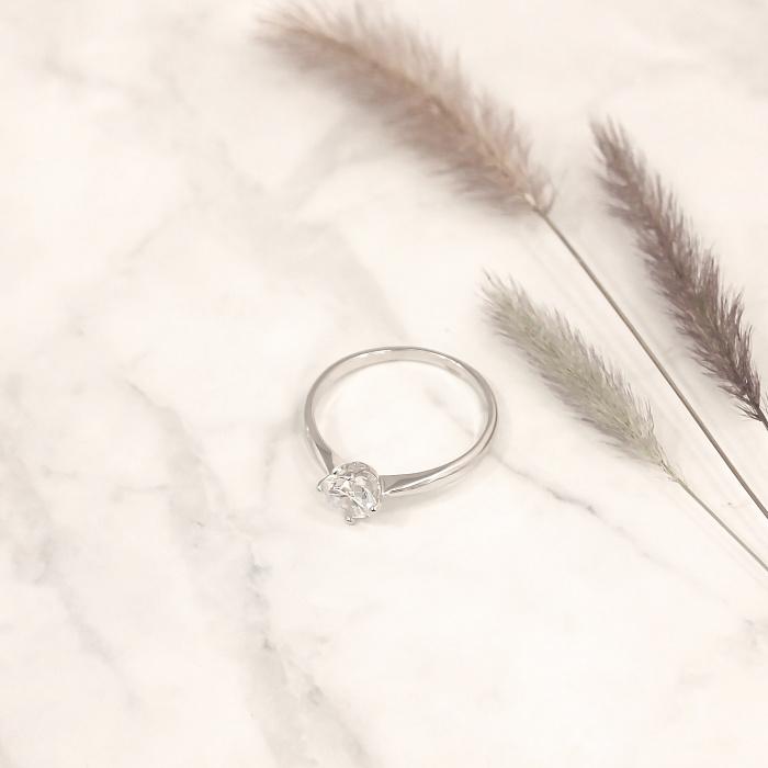 Серебряное кольцо Катарина с фианитом 000030925
