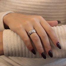 Серебряное кольцо с фианитами Юджиния