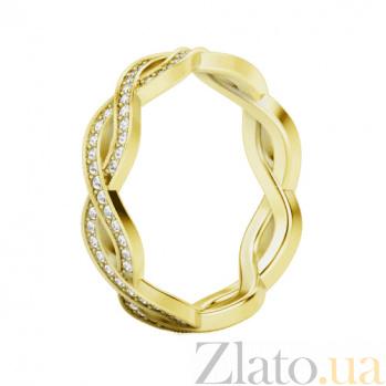 Обручальное кольцо из желтого золота с бриллиантами Загадки Галактики: Солнечный ветер 364