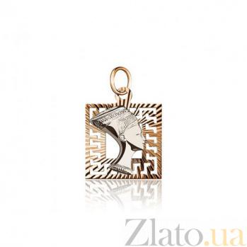 Кулон из золота Царица Египта EDM-П0110Б