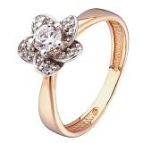 Золотое кольцо Шарм с фианитами