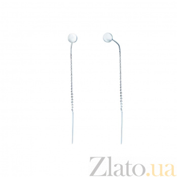 Серебряные сережки Ливия AQA--Тс-580059