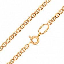 Золотая цепочка Даяна в красном цвете плетения барли с алмазной гранью, 2,5мм