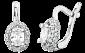 Сережки из серебра с фианитами Аврил 000024672