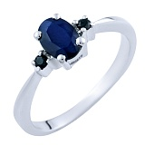 Серебряное кольцо Росита с сапфирами