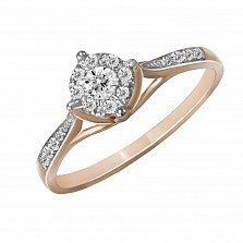 Кольцо из красного золота Грация с бриллиантами
