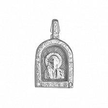 Серебряная ладанка с фианитами Покровитель
