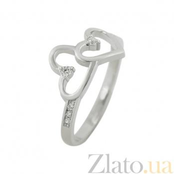 Серебряное кольцо с фианитами Дуэт 3К570-0069