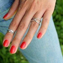 Серебряное кольцо Узел