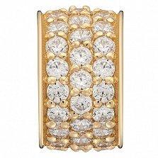 Золотой подвес Ивария в евро цвете с фианитами