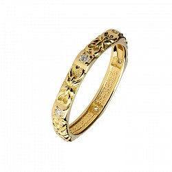 Обручальное кольцо с бриллиантами Чудо