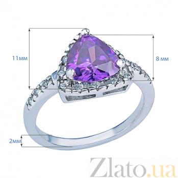 Кольцо серебряное с цирконом Матиола AQA--MS-151(S)-RA