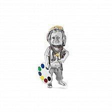Серебряный кулон Малыш Творец с цветной эмалью