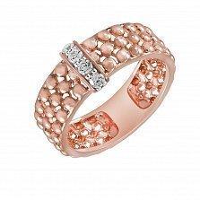 Кольцо Анастасия из красного золота с бриллиантами