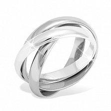 Серебряное тройное кольцо Midi Trio