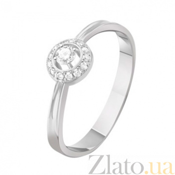 Золотое кольцо с бриллиантами Элла KBL--К1141/бел/брил