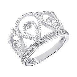 Серебряное кольцо с фианитами 000148579