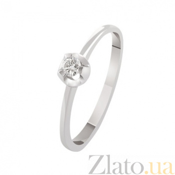 Кольцо для помолвки с бриллиантом Sally KBL--К1959/бел/брил