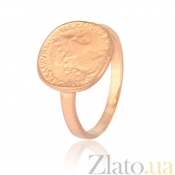 Позолоченное серебряное кольцо Фреска 000028229