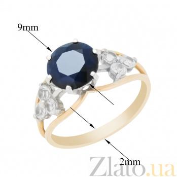 Кольцо в красном золоте Руслана с сапфиром и топазом 000096582