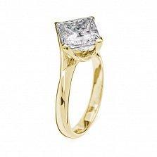 Кольцо в желтом золоте Афродита с бриллиантом