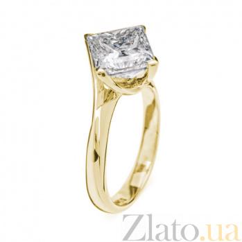 Кольцо в желтом золоте Афродита с бриллиантом 000079319