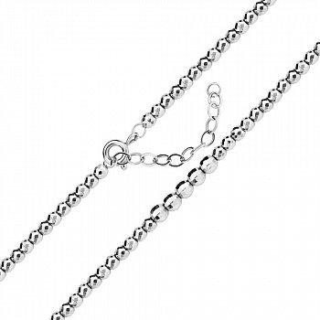 Срібний браслет в плетінні кульки 000140022