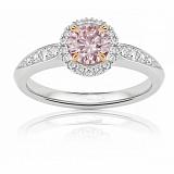 Кольцо Argile из белого золота с бриллиантам и розовым сапфиром