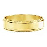 Мужское обручальное кольцо из желтого золота Исполнение желаний