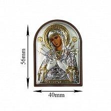 Икона Богородица Семистрельная, 40х56мм