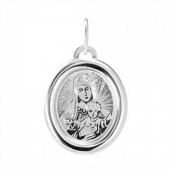 Серебряная ладанка Божия Матерь 000140682