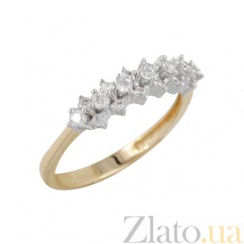 Золотое кольцо с фианитами Магия звезд 000026596