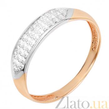 Золотое кольцо с фианитами Рэйчел HUF--80699