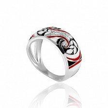 Серебряное кольцо Фентези с разноцветной эмалью