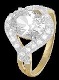 Позолоченное серебряное кольцо с цирконием Джахфария