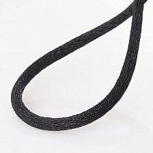 Шелковый шнурок Стенбик с гладкой золотой застежкой, 3мм