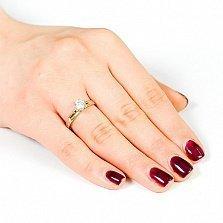 Золотое кольцо Делия с кристаллом Swarovski