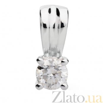 Кулон из белого золота с бриллиантом Эмилия 000030456