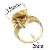 Золотое кольцо с жёлтым топазом Кэйтлайн