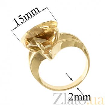 Золотое кольцо с жёлтым топазом Кэйтлайн PTL--1к241/30