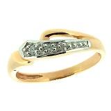 Золотое кольцо в красном цвете с бриллиантами Канти