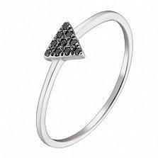 Золотое кольцо Мемори в белом цвете с фианитами