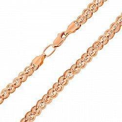 Цепочка из красного золота в фантазийном плетении 000135948