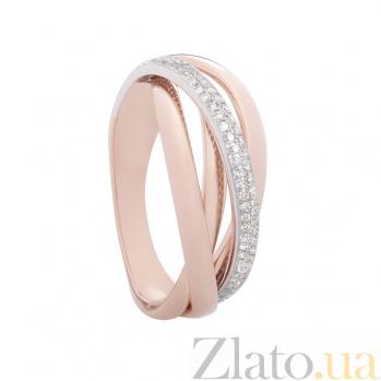 Золотое кольцо с бриллиантами Серпантин 1К036-0280