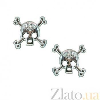 Серебряные серьги с бриллиантами Метка ZMX--ED-00263-Ag_K
