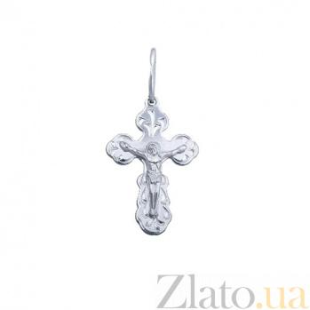 Серебряный крестик Хранитель души AQA--3578б