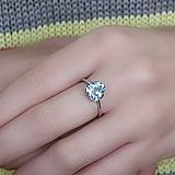 Серебряное кольцо Юнона с топазом