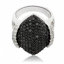 Кольцо из серебра Аллегория с кристаллами Сваровски