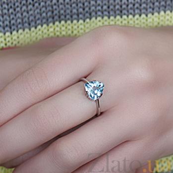 Серебряное кольцо Юнона с топазом 000045656